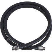 "Husky 3/4""M NPTF x 9' EagleFlex Wirebraid Black Gas Hose w/Permanent Couplings - CP12WB09"