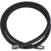 "Husky 3/4""M NPTF x 9' EagleFlex Wirebraid Black Gas Hose w/Permanent Couplings - CP12WB09"