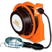 Hubbell ACA16335-HL Industrial Duty Cord Reel with Incandescent Hand Lamp - 16/3c x 35', Aluminum