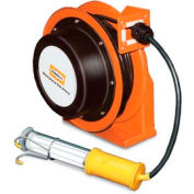 Hubbell GCC16370-FL Industrial Duty Cord Reel with Fluorescent Hand Lamp - 16/3c x 70'