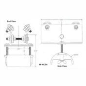 """Hubbell R-HC5A T-Track Festoon Standard Trolley For Round 0.60"""" - 0.94"""""""