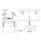 "Hubbell R-HC5AL T-Track Festoon Standard Trolley For Round 0.95""- 1.25"""