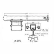 """Hubbell R-HTAL T-Track Festoon For Round 0.95"""" - 1.25"""""""