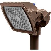 Hubbell AL-D/72L-220/5K7/4X4/UNV/SF3/DBT Alpha LED Flood, 220W, 20000L, 5000K, 4x4,Slipfitter,Bronze