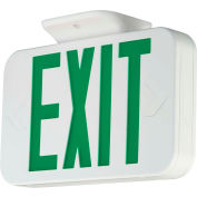 Hubbell CEGRC LED Exit Sign, White, Green Letters, Remote Capacity, w/ Ni-Cad Battery