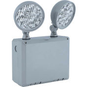 Hubbell CU2WG LED Grey Emergency Unit, Wet Location w/ Adjustable Heads