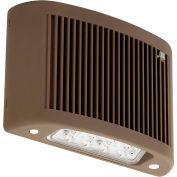 Compass Lighting CUSO DB LED Outdoor Emergency Light, 30K, NiCad Battery, Wet loc, Dk Bronze