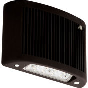 Compass Lighting CUSO4BK-H-ND LED Outdoor Emergency Light w/Heater, 4000K, NiCad Batt, Wet loc,Black