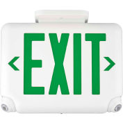 Hubbell EVCUGW Compact LED Combo Unit, White w/ Green Letters
