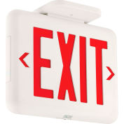 Hubbell EVEURW Compact Architectural LED Exit Sign, White w/ Red Letters, 120/277V