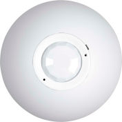 Hubbell OMNI PIR Ceiling Low Voltage Sensor with 1500 Sq Ft Range, Relay & Photocell, Off White