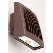 Hubbell SG1-20-4K-PCU LED Low Profile Wall Pack w/ Photocontrol, 21W, 2300L, 4000K, Dark Bronze, DLC