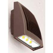 Hubbell SG2-80-4K-PCU LED Low Profile Wall Pack w/ Photocontrol, 80W, 8000L, 4000K, Dark Bronze, DLC