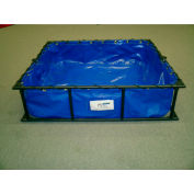 "Husky Steel Frame PVC Decontamination Pool STFDP-33 - 36""L x 39""W x 12""H 60 Gallon Cap. Blue"