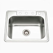 Houzer A2522-65BS4-1 ADA Drop In Stainless Steel 4-Hole Single Bowl Sink