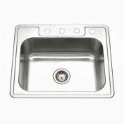 Houzer A2522-65BS4-1 ADA Drop In Stainless Steel 4-Hole Single Bowl Sink