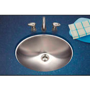 Houzer CH-1800-1 Opus Series Undermount Stainless Steel Oval Bowl Lavatory Sink