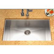 Houzer CTG-3200 Contempo Stainless Steel Gourmet Undermount Large Single Bowl Kitchen Sink