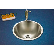 Houzer CVT-1645-1 Topmount Stainless Steel Lavatory Sink, Mirror Finish