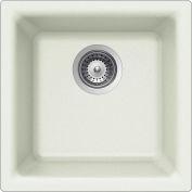 Houzer E-100U CLOUD Quartztone Series Granite Dual Mount Bar/Prep Sink, White