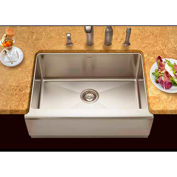 Houzer EPS-3000 Apron Front Farmhouse Stainless Steel Single Bowl Kitchen Sink