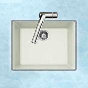 Houzer G-100U CLOUD Granite Undermount Single Bowl Kitchen Sink, White