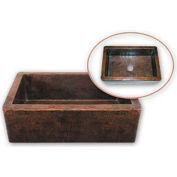 Houzer HW-COP11 Hammerwerks Apron Front Farmhouse Copper Single Bowl Sink, Antique Copper