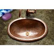 Houzer HW-EL1ES Hammerwerks Ellipse Drop In Copper Lavatory Sink, Antique Copper