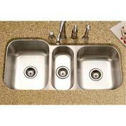 Houzer MGT-4120-1 Undermount Stainless Steel Triple Bowl Kitchen Sink