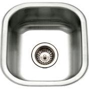 Houzer MS-1708-1 Undermount Stainless Steel Square Bowl Bar/Prep Sink