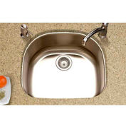 Houzer MS-2409 Undermount Stainless Steel Single Bowl Kitchen Sink