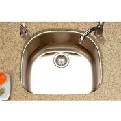 Houzer MS-2409 Undermount Stainless Steel Single Bowl Kitchen Sink