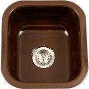 Houzer PCB-1750 ES Porcelain Enamel Steel Undermount Bar/Prep Sink, Espresso