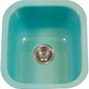 Houzer PCB-1750 MT Porcelain Enamel Steel Undermount Bar/Prep Sink, Mint