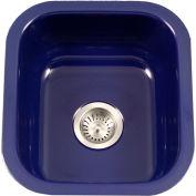 Houzer PCB-1750 NB Porcelain Enamel Steel Undermount Bar/Prep Sink, Navy Blue