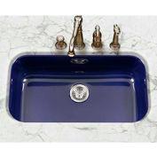 Houzer PCG-3600 NB Porcelain Enamel Steel Undermount Large Single Bowl,Navy Blue