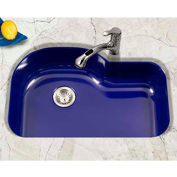 Houzer PCH-3700 NB Porcelain Enamel Steel Undermount Single Bowl, Navy Blue