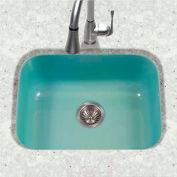 Houzer PCS-2500 MT Porcelain Enamel Steel Undermount Single Bowl, Mint