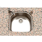 Houzer PNG-2400-1 Undermount Stainless Steel Single D Bowl Kitchen Sink