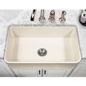 "Houzer PTS-4300 BQ 33"" Apron Front Fireclay Single Bowl Kitchen Sink, Biscuit"