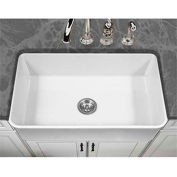 "Houzer PTS-4300 WH 33"" Apron Front Fireclay Single Bowl Kitchen Sink, White"