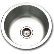 Houzer SCF-1830-1 Drop In Stainless Steel Round Bar/Prep Sink