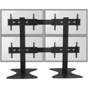 """TygerClaw LVW8605 Quad Monitor TV Stand for 30""""-60"""" TVs - Black"""