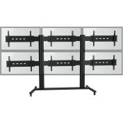 """TygerClaw LVW8609 6 Monitor TV Stand for 30""""-60"""" TVs - Black"""