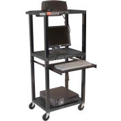 "Tuffy Mobile Computer Workstation - 24""W x 18""D x 54""H Black"
