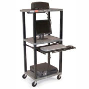 "Tuffy Mobile Computer Workstation - 24""W x 18""D x 54""H Gray"