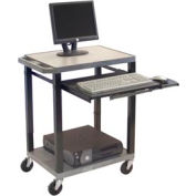 "Tuffy Mobile Computer Workstation - 24""W x 18""D x 33""H Gray"