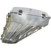 Howard Lighting Vaporproof Highbay, 120-277V, 54W T5, 4 Lamp, Acrylic Lens, V-Hook, Aluminum