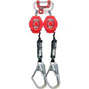 Miller® Twin Turbo™ G2 6'L Fall Protection System, Steel Rebar Hooks, MFLC-4-Z7/6FT