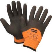 North® Flex Cold Grip Plus 5™ Cut-Resistant Gloves, Hi-Vis Orange/Black, Size M, 1 Pair